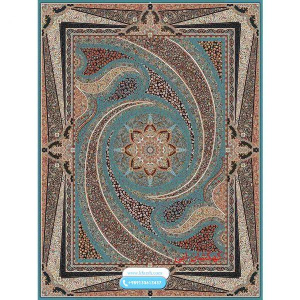 فرش 1050 شانه نقشه کهکشان آبی