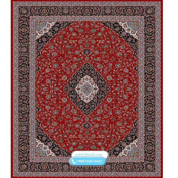 فرش 500 شانه طرح کاشان لاکی