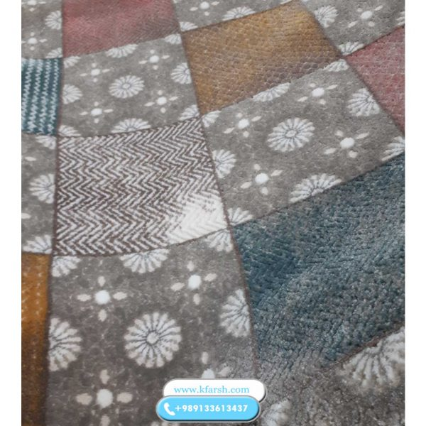فرش فانتزی صورتی- آبی