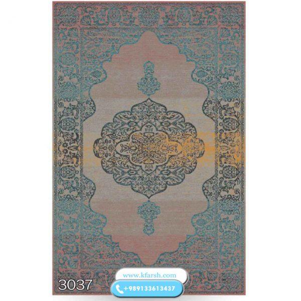 فرش آبی طلایی