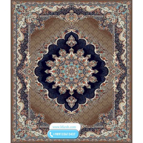 فرش 500 شانه طرح نیلا گردویی