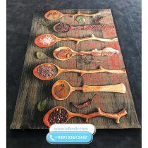 فرش آشپزخانه طرح قاشق چوبی