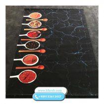 فرش آشپزخانه طرح قاشق چنگال